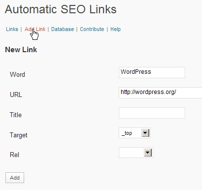 Automatic SEO Links 使い方