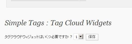 Simple Tagsタグの複数選択