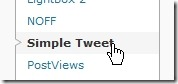 Simple Tweetの設定
